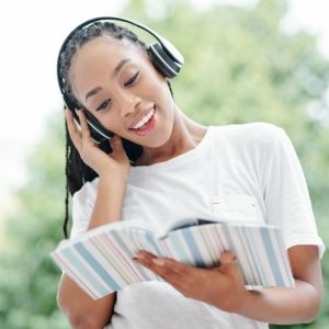Woman doing listening exercise
